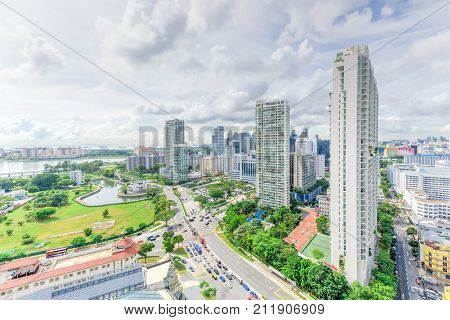 Singapore Condominium Building Complex At Kallang Neighborhood