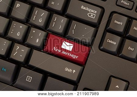 Email new message red key on keyboard