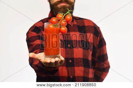Farming And Autumn Concept. Farmer With Confident Face