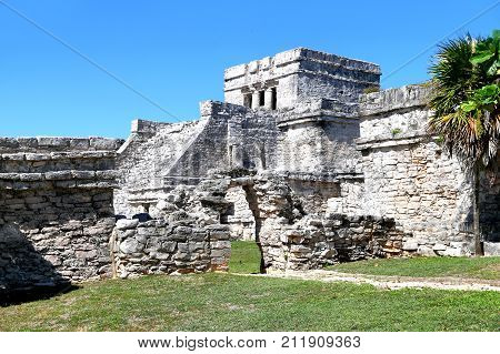 Ancient Maya Ruins In Tulum
