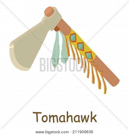 Tomahawk icon. Isometric illustration of tomahawk vector icon for web