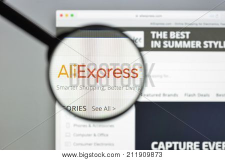 Milan, Italy - August 10, 2017: Aliexpress Website Homepage. It Is An Online Retail Service Made Up