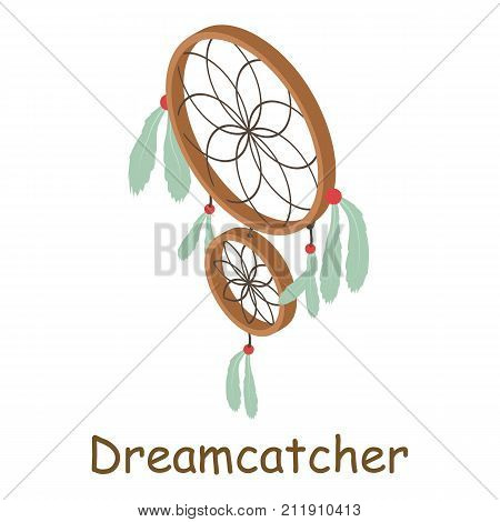 Dream catcher icon. Isometric illustration of dream catcher vector icon for web