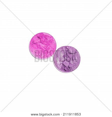 Eye shadow compacts  isolated on white background