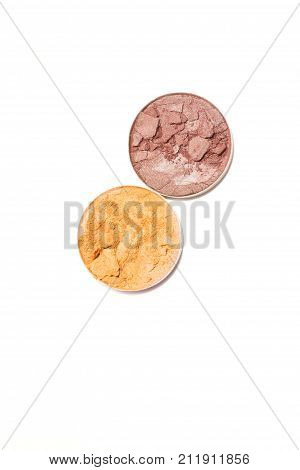 Eye shadow compact isolated on white background