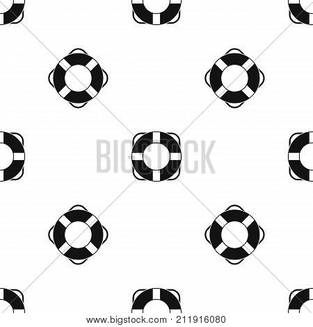 Lifeline pattern repeat seamless in black color for any design. Vector geometric illustration