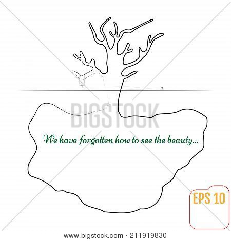 Tree Root, Tree, Girl On The Swing. Vector Illustration For Your Business Idea.
