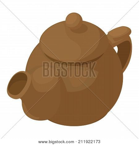 Kettle brown icon. Isometric illustration of kettle brown vector icon for web