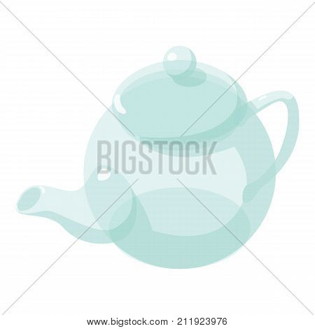 Kettle glass icon. Isometric illustration of kettle glass vector icon for web