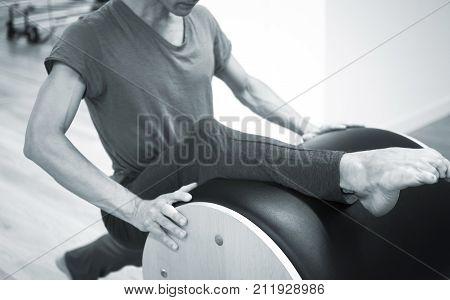 Man Pilates Teacher In Gym