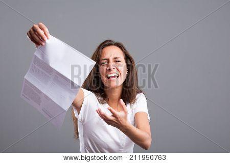Angry Woman Because Of Very Bad News