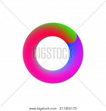 Letter o. Gradient circle. Template for logo icons Stock vector