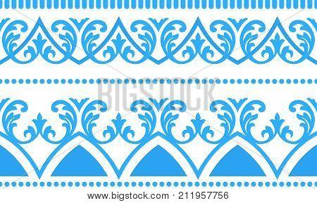 Floral Ornament Seamless Flourish Pattern Vector Interior Design Element