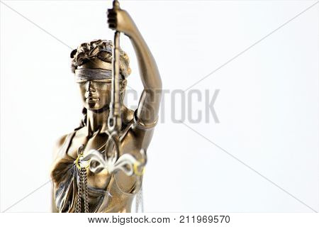 An image of justice - Justitia statue