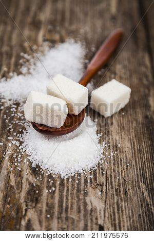 Wooden Spoon With Sugar