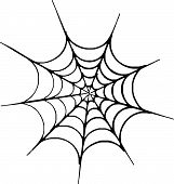 Scalable vectorial image representing an Halloween spider web poster