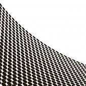abstract halftone wave in black and white poster