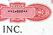 Old stock certificate of an American corporation. 3000 shares. poster