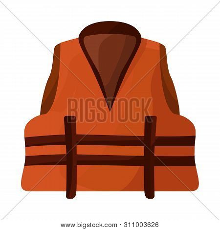 Vector Illustration Of Vest And Jacket Icon. Set Of Vest And Lifejacket Stock Vector Illustration.