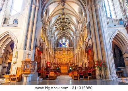 London, Uk - May 22 2018: Southwark Cathedral Has Been A Place Of Christian Worship For More Than 1,