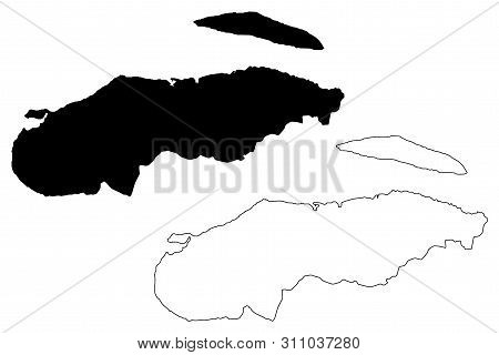 Nord-Ouest department (Republic of Haiti, Hayti, Hispaniola, Departments of Haiti) map vector illustration, scribble sketch Nord-Ouest map poster