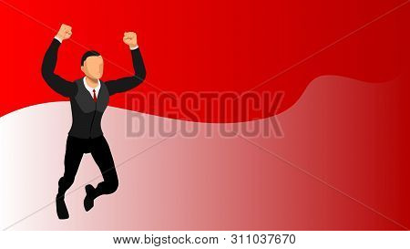 Template Design Is Devoted To Independence And Success. Vector File With A Separate Layer. Eps10