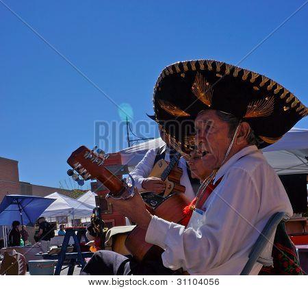 Mariachi Sings At Street Fair