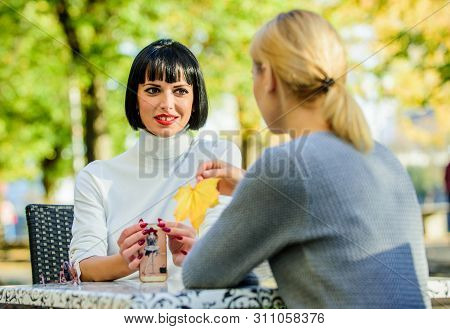 Revelation And Support. Friendship Meeting. Trustful Communication. Friendship Or Rivalry. Girls Fri