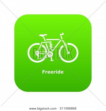 Freeride Bike Icon. Simple Illustration Of Freeride Bike Icon For Web