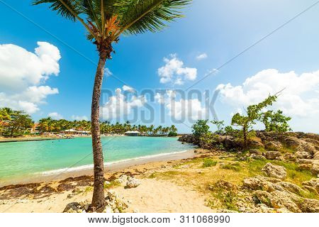 Bas Du Fort Beach In Guadeloupe, French West Indies. Lesser Antilles, Caribbean Sea
