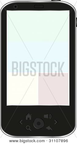 Black smartphone isolated on white background, Iphone smartphone