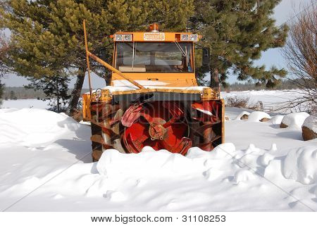 Old snow plow