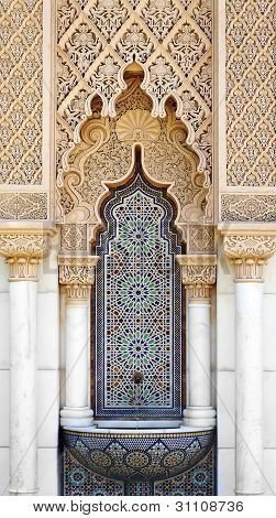 Close up of Middle east or Moroccan architecture