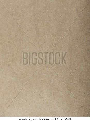 Close-up Of Old Brown Paper Texture. Stock Image.
