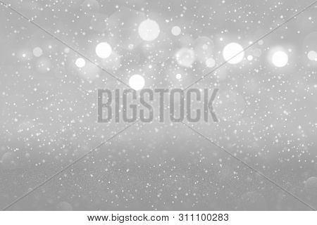 Pretty Glossy Abstract Background Glitter Lights With Sparks Fly Defocused Bokeh - Festal Mockup Tex