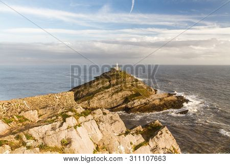 The Mumbles And Lighthouse From Clifftop, Wide Angle