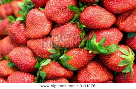 Ripe Fresh Strawberries