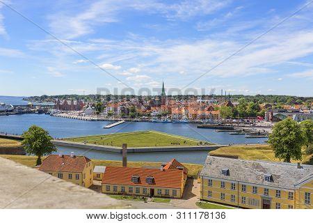Helsingor, Denmark - July 23, 2019: Former Military Barracks On The Outskirts Of The Kronborg Castle