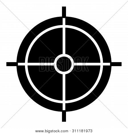 Periscope Crosshair Icon. Simple Illustration Of Periscope Crosshair Icon For Web Design Isolated On