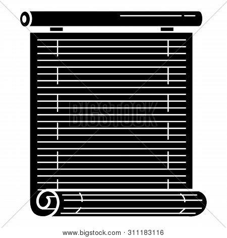 Wood Roller Jalousie Icon. Simple Illustration Of Wood Roller Jalousie Icon For Web Design Isolated
