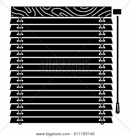 Window Jalousie Icon. Simple Illustration Of Window Jalousie Icon For Web Design Isolated On White B