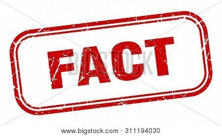 Fact Stamp. Fact Square Grunge Sign. Fact