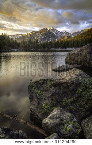 Bear Lake Sunrise In The Rocky Mountains