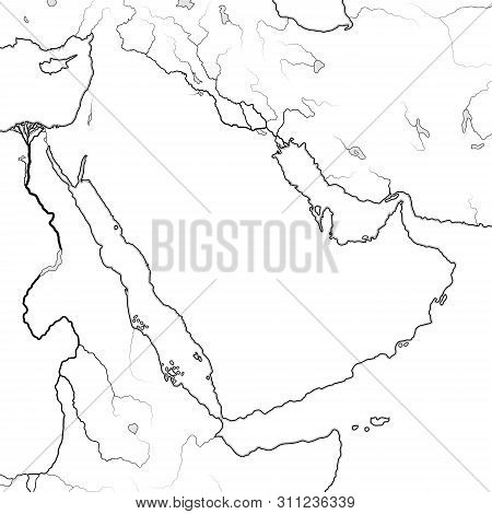 World Map Of Arabian Peninsula: The Middle East, Arab World, Saudi Arabia, Iraq, The Emirates, Syria