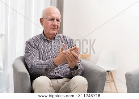 Elderly Male Is Expressing Pain. Arthritis, Rheumatoid, Pain Concept