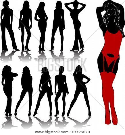 woman silhouettes 7