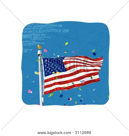 Independence Day American Banner