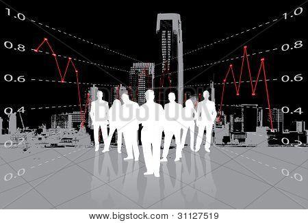 Business background. Editable version in portfolio.
