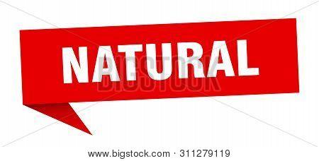 Natural Speech Bubble. Natural Sign. Natural Banner