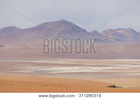panoramic view over a salt lake in the salar the uyuni, bolivia poster
